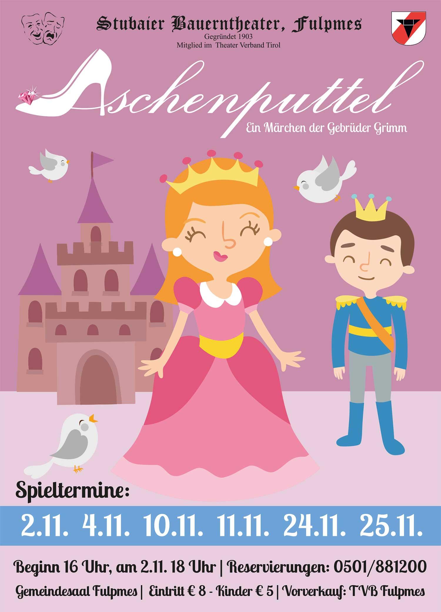 Plakat Aschenputtel