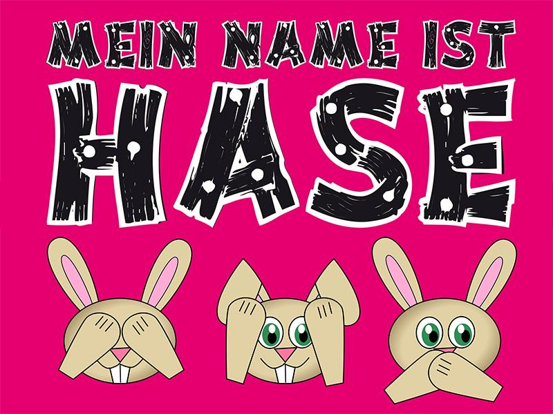 Plakat zum Lustspiel: Mein Name ist Hase